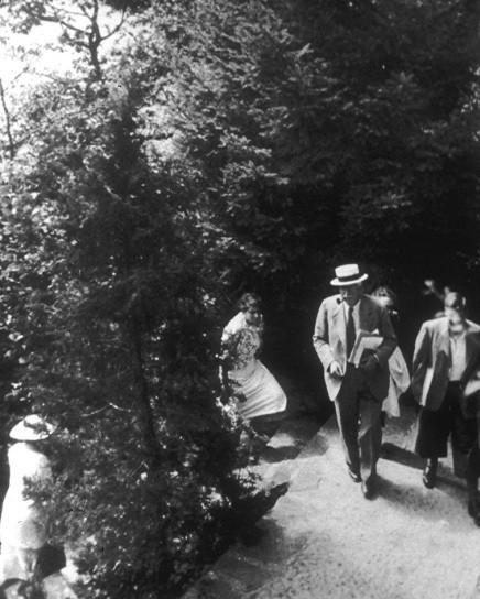 Carl Jung and friends at Eranos circa 1936