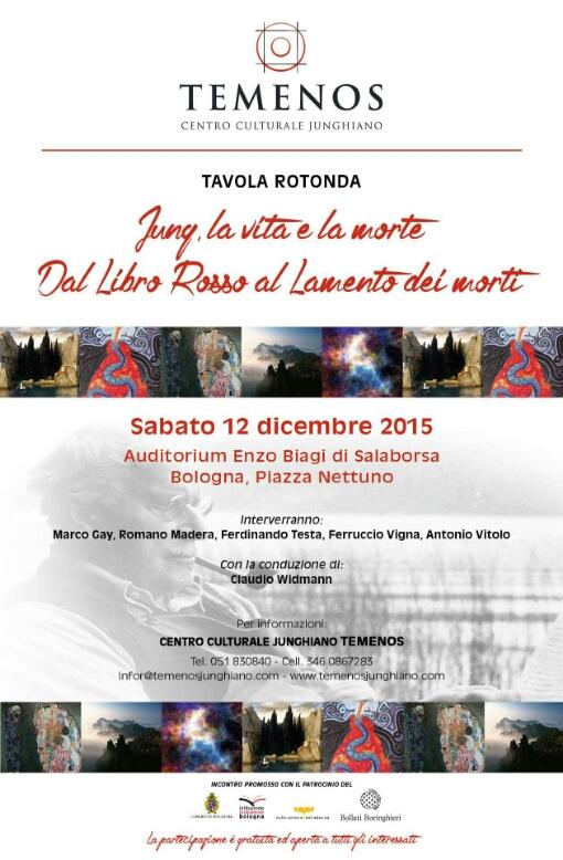 12 Dicembre 2015 – Bologna – Jung, la vita e la morte. Dal Libro Rosso al Lamento dei Morti.