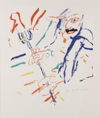 Willem Kooning Rainbow Devil Keyboard