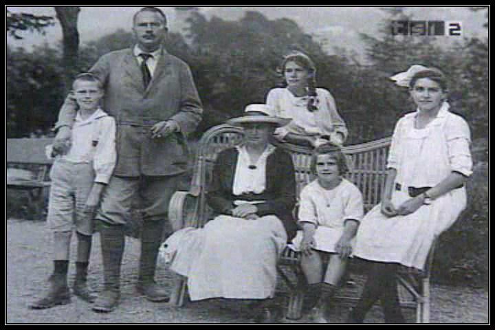 Famiglia di Jung, i figli e sua moglie Emma