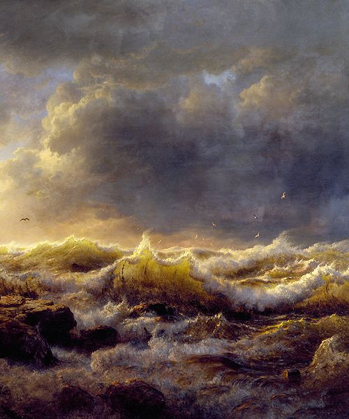 Andreas Achenbach - Clearing Up, Coast of Sicily (1847)