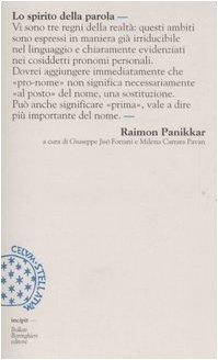 Lo spirito della parola (Panikkar)