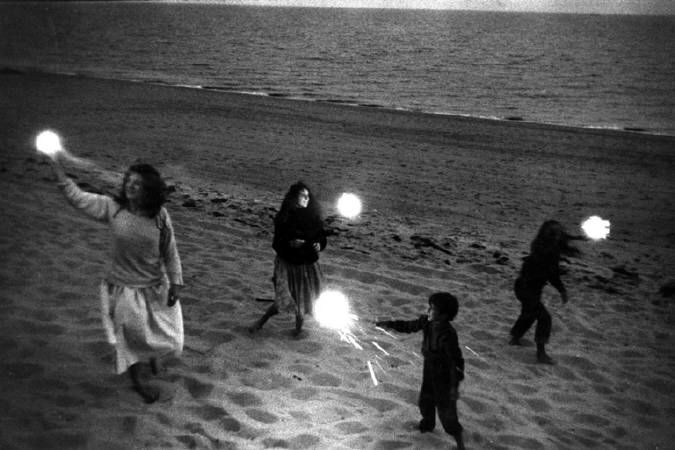 Robert Frank 2 - Untitled (Children with Sparklers in Provincetown) ca. 1958