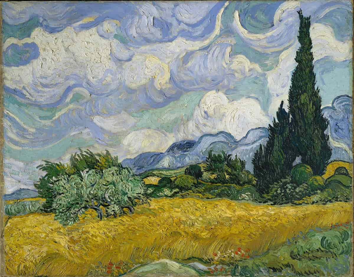 Vincent Van Gogh - A Cornfield with Cypresses 1889