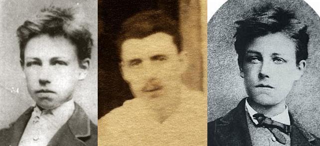 Foto di Rimbaud in diverse età