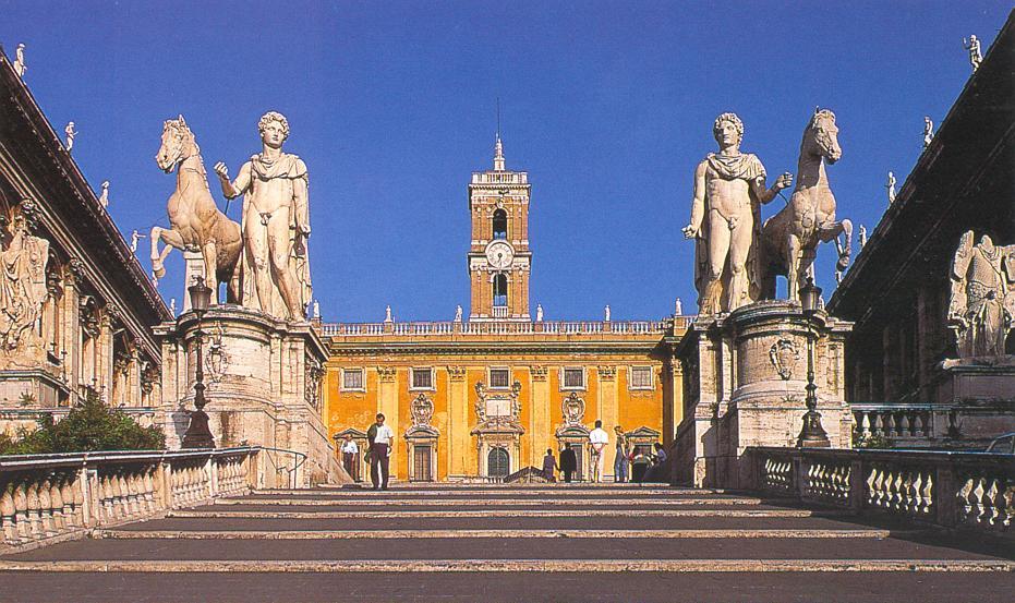 Campidoglio, Roma, Castore e Polluce Gemelli