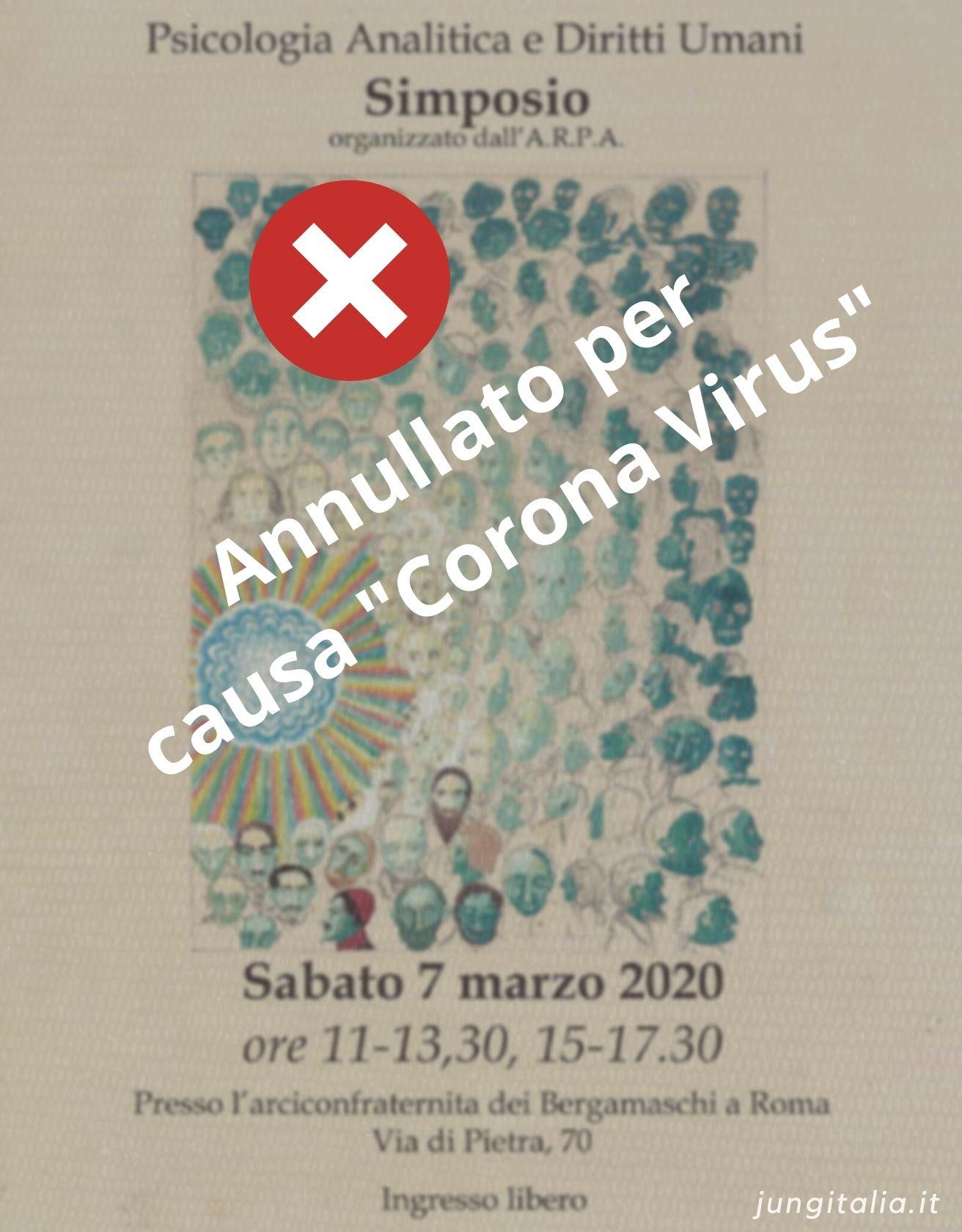 Convegno Psicologia Junghiana Roma - Simposio 2020 Annullato