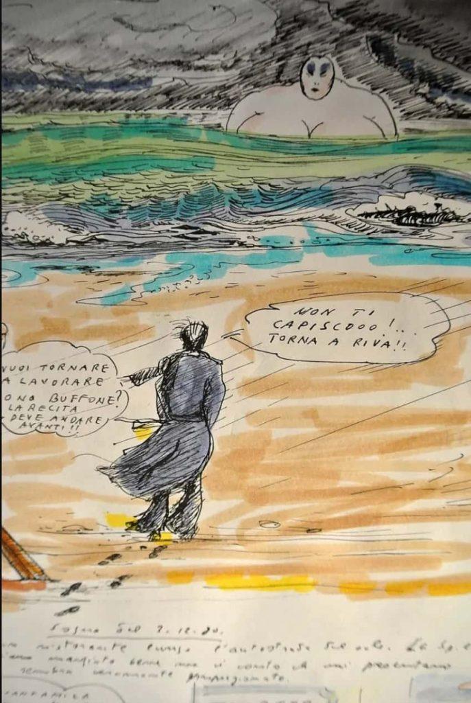 Disegno di Fellini, tratto dal suo libro dei sogni