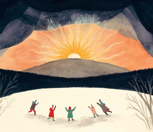 "tratta da ""The Shortest Day"", racconto di Susan Cooper, illustrazioni di Carson Ellis"