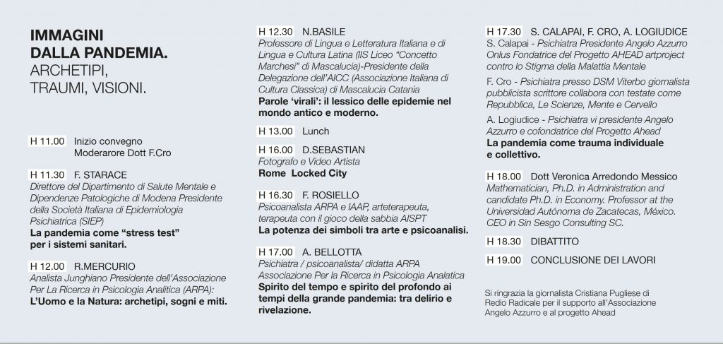 Locandina Convegno Immagini dalla pandemia Messina